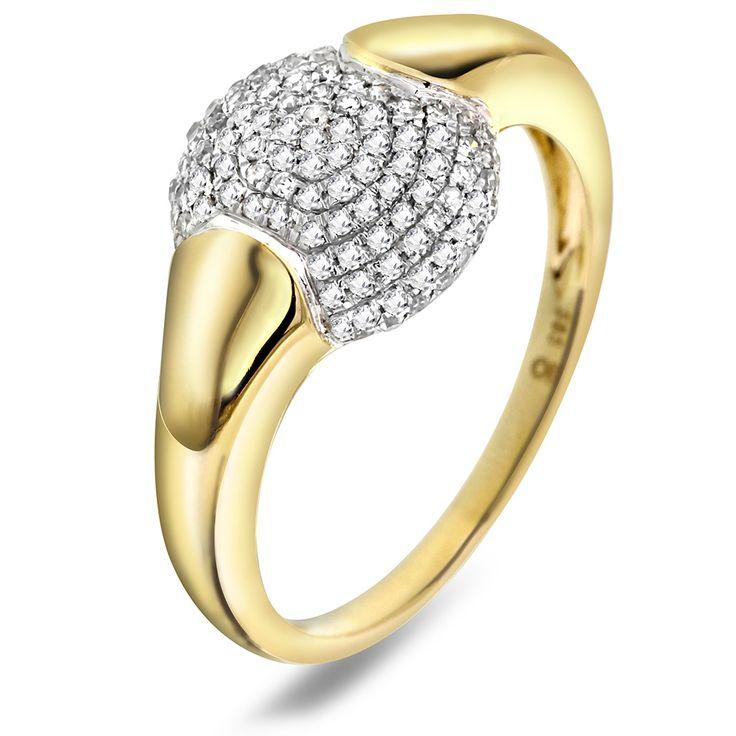 Ring i gull med diamant 0,30 ct WP