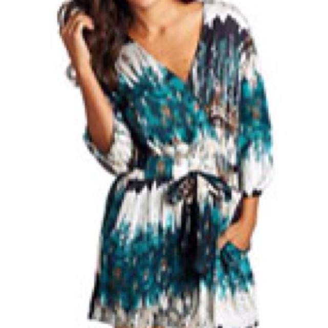 Bohemian satin dress from Alloy.com
