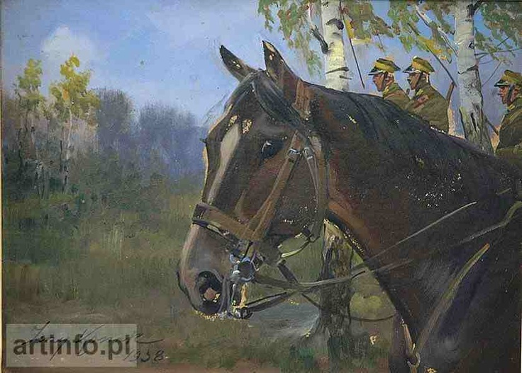 Jerzy Kossak - Horse head