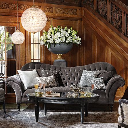 Best Foyer Images On Pinterest Faceted Crystal Homes And - Arhaus club sofa