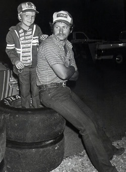 Dale Earnhardt and Dale Jr.