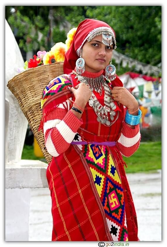 Himachal Traditional Outfit: Himachal Pradesh, Traditional Dresses, Beautiful Dresses, Costume, Himachal Traditional