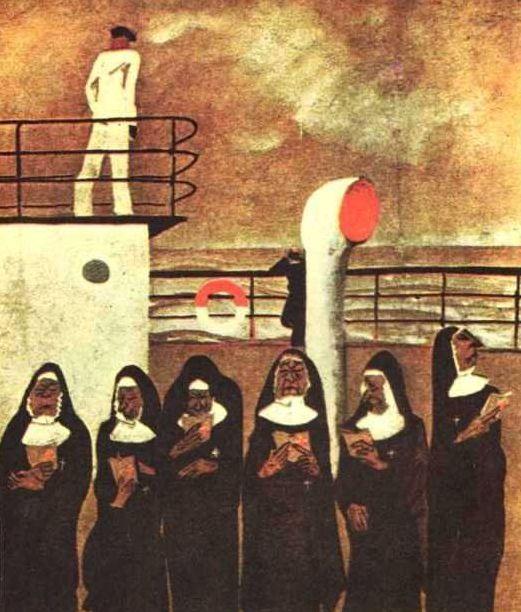 Six Nuns, by Alexander Deineka