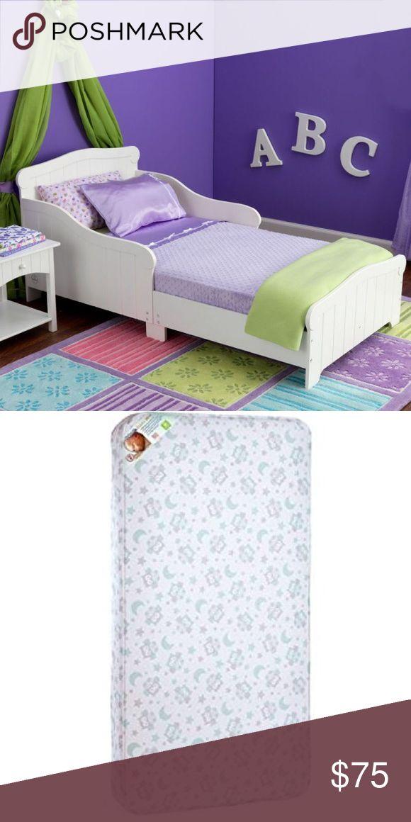 Nantucket Wooden Toddler Bed Crib Mattress