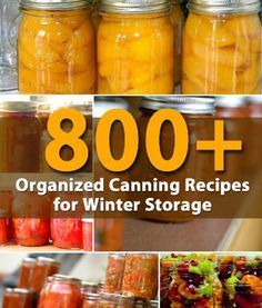 Canning Recipes Galore!