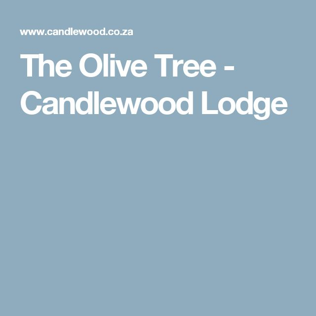 The Olive Tree - Candlewood Lodge
