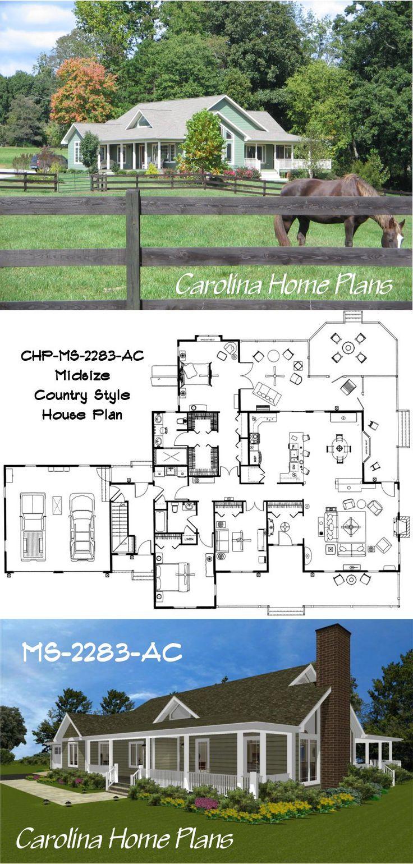 Midsize House Plan Ms 2283 Ac North Carolina Open Floor
