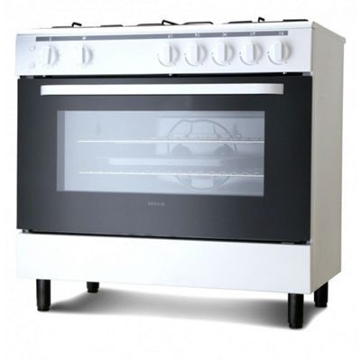 Buy Servis SG900W 90cm Gas Range Cooker in White | Large Single Gas Oven & Grill from our Gas Range Cookers range - Tesco