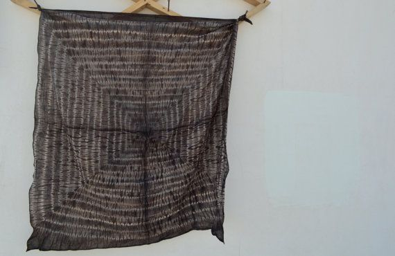 Hand Tie Dye Shibori Bandhani Scraf Hand by SeenUnseenDesign
