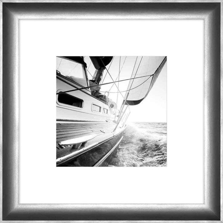 "Surya Sailboat Carlie Square Framed Photography 24"" x 24"""