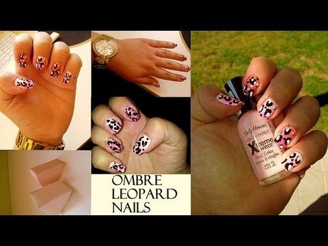 Ombre leopardí nehty/ Ombre leopard nails Tutorial - http://www.nailtech6.com/ombre-leopardi-nehty-ombre-leopard-nails-tutorial/