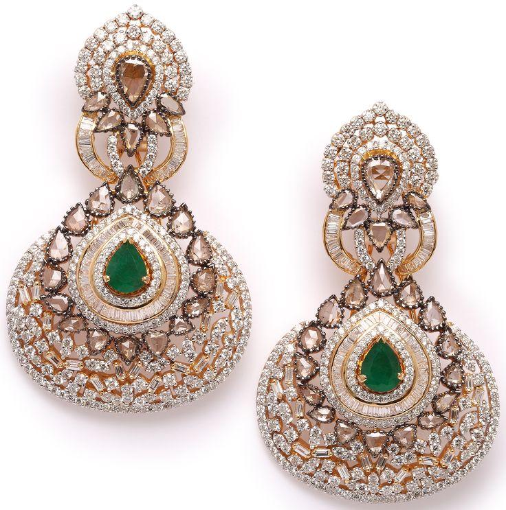 Beautiful Earrings Jetgems Elegant Exquisite Style Stylish Earringsjewellery Designsjewelry Collectiondiamond