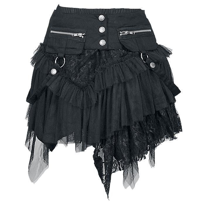Cat Skirt - Short skirt by KuroNeko