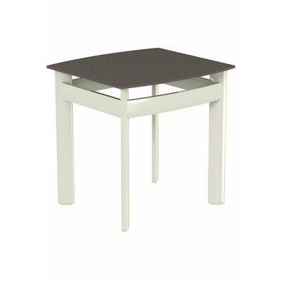 Tropitone Square Aluminum Coffee Table Base Finish: Parchment, Top Finish: Mocha