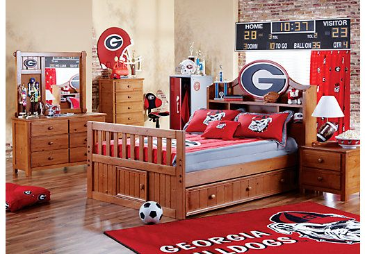 Shop for a ncaa creekside 5 pc twin bookcase bedroom at - Rooms to go kids bedroom furniture ...