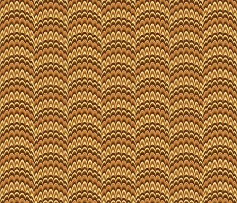 Marbling Comb: Vanilla Ice Cream and Caramel fabric by mia_valdez on Spoonflower - custom fabric