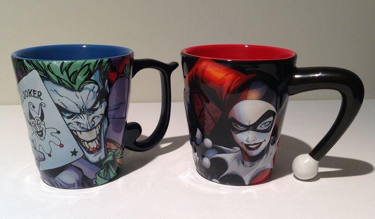 True romance - The Joker and Harley Quinn matching mugs.