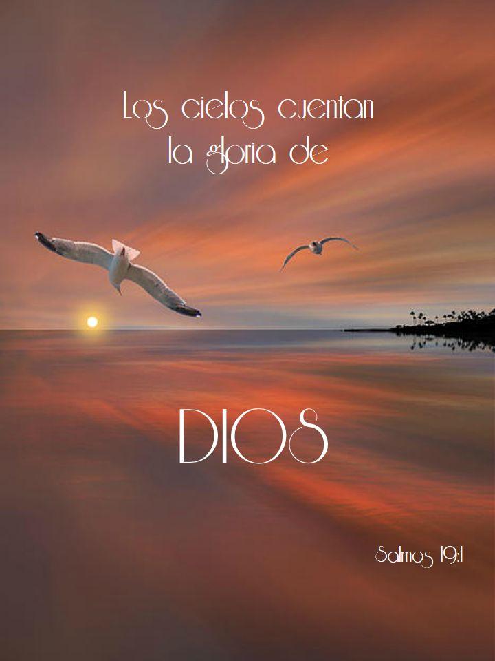 Salmos 19:1 Los cielos cuentan la gloria de Dios, Y el firmamento anuncia la…