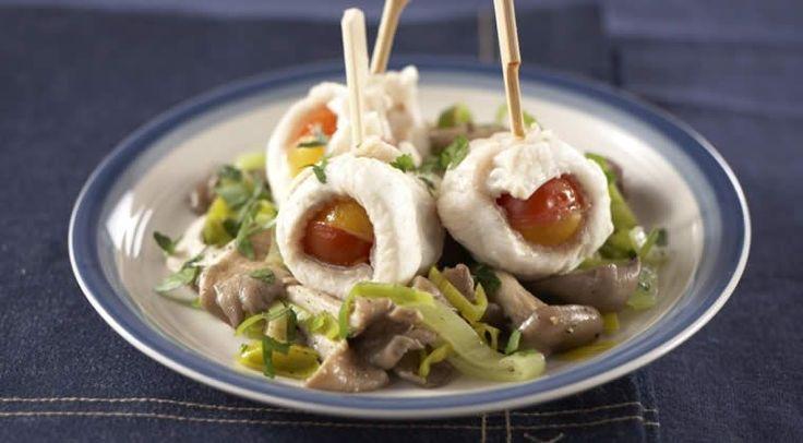 Een overheerlijke papillot van pladijs met oesterzwammen, die maak je met dit recept. Smakelijk!