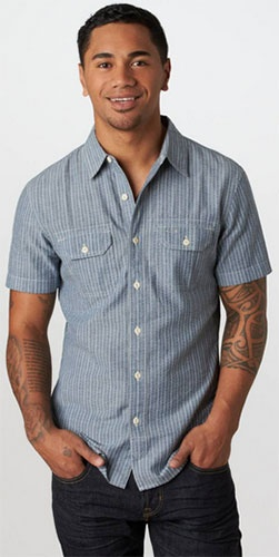AE Mens Embroidered Workwear Shirt - $31.96 (20% Discount)