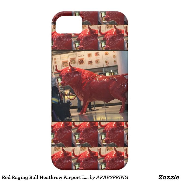 Red Raging Bull Heathrow Airport London England UK iPhone SE/5/5s Case