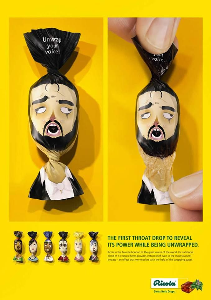#packaging Throat drops--really creative--awesome