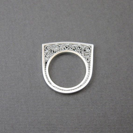 Silver filigree ring by MissSilver