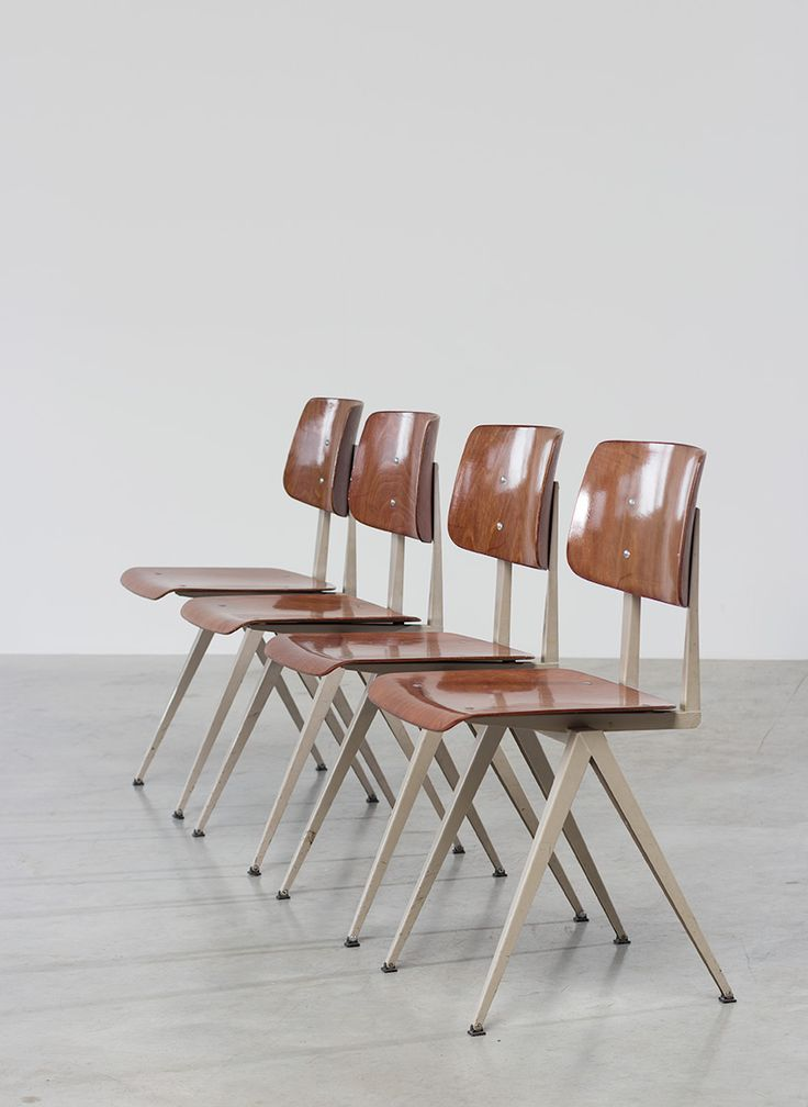 industrial modern furniture. 4 industrial compass chairs with plywood seating modern furniture