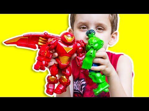 Hulk vs Hulkbuster Iron Man Avengers Marvel Superhero Mashers Toys Brinquedos Review em Portugues - http://www.comics2film.com/marvel/superheroes/iron-man/hulk-vs-hulkbuster-iron-man-avengers-marvel-superhero-mashers-toys-brinquedos-review-em-portugues/ #comicmovies #superheroes #marvel #dc