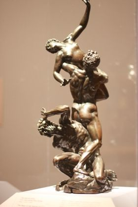 Part of the Art Collection of Prince Władysław IV Vasa (9 Jun 1595-20 May 1648) Poland. The Rape of the Sabine Women by Giambologna - a bronze copy of the famous marble statue.