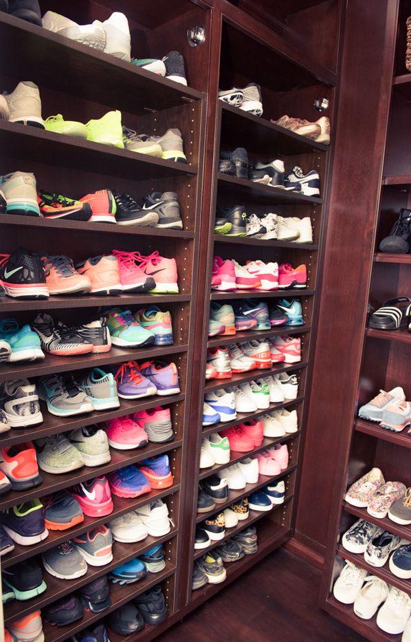 Shay Mitchell's Shoe Closet Is Totally Insane via @WhoWhatWearUK