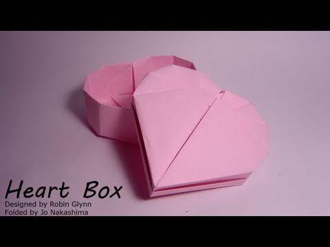 Origami Heart Box (Robin Glynn) - Part 2/2 (Lid) - YouTube