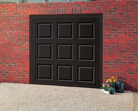 black garage doors | Cardale Colour Steel Garage Doors