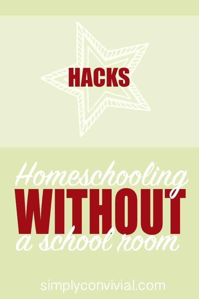 These are my three favorite homeschool hacks that give stuff homes and keep our work accessible and portable so that our home doesn't feel overrun with homeschooling.