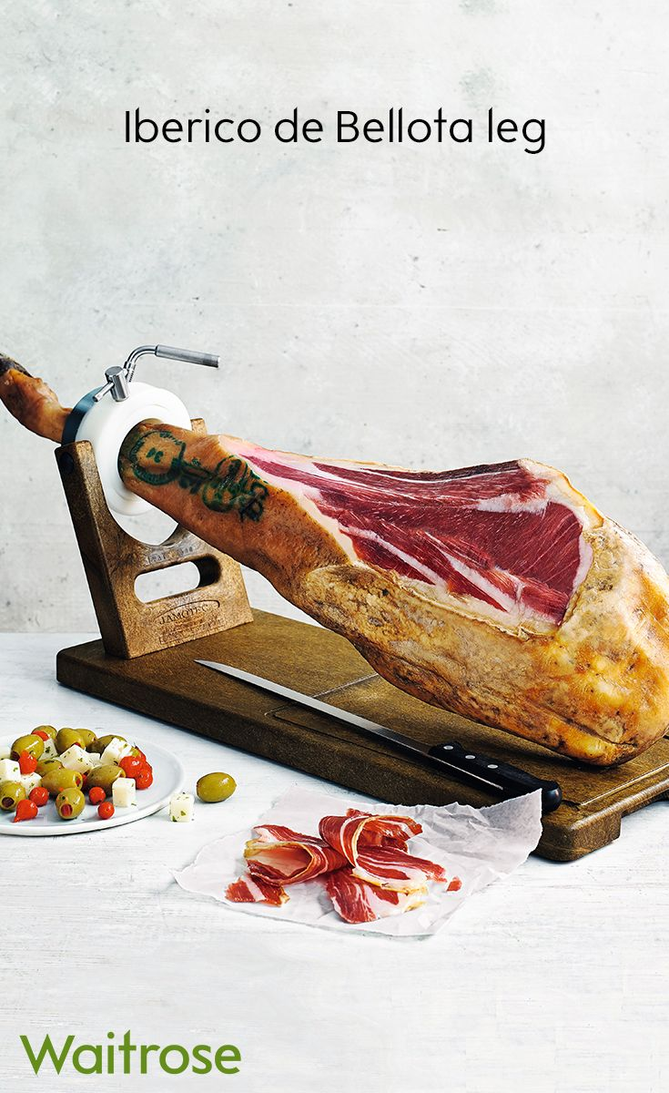 For the ultimate party showstopper, enjoy our Iberico de Ballota with melt in the mouth Iberico ham. Our ham is produced from acorn-fed pigs that roam freely in Spanish woodlands. Find more items like this on the Waitrose Entertaining website.