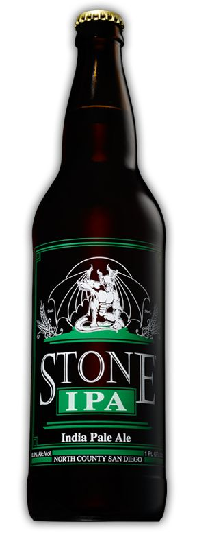 Stone IPA: By definition, an India Pale Ale is hoppier and higher in alcohol than its little brother, pale ale-and we deliver in spades. Now one of the most well respected and best-selling IPAs in the country, this golden beauty explodes with citrusy flavor and hop aromas, all perfectly balanced by a subtle malt character. #craftbeer #stonebrewing