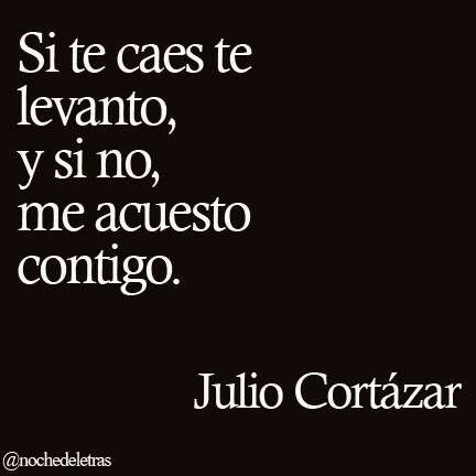 Si te caes te levanto, y si no, me acuesto contigo - Julio Cortazar