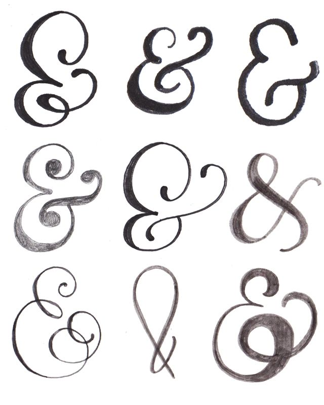 alisaburke: lettering series - practicing drawing ampersands