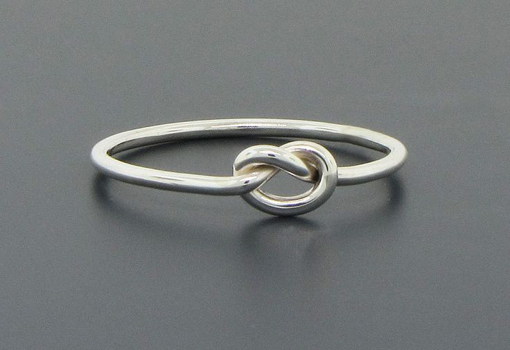 Love knot ring, sterling silver ring, promise ring, commitment ring, purity ring, friendship ring, 16 gauge - pinned by pin4etsy.com