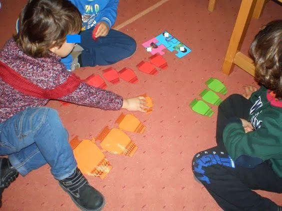παιχνιδοκαμώματα στου νηπ/γειου τα δρώμενα: αγγεία, χρώματα, σχήματα και αριθμοί......... ένα κουβάρι στη στιγμή !!!