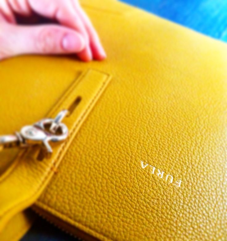 Yellow bag by Furla