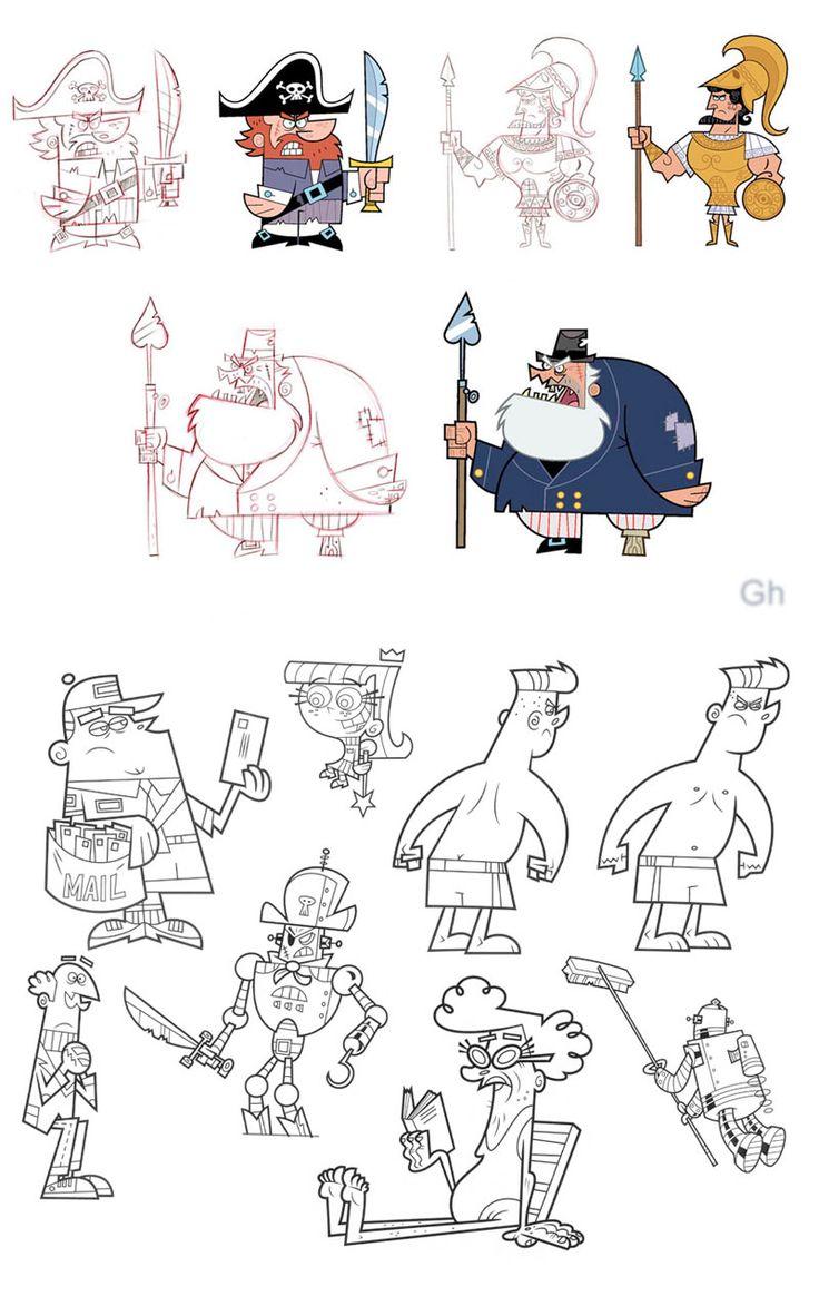 http://theconceptartblog.com/2012/12/02/os-padrinhos-magicos-por-gordon-hammond/