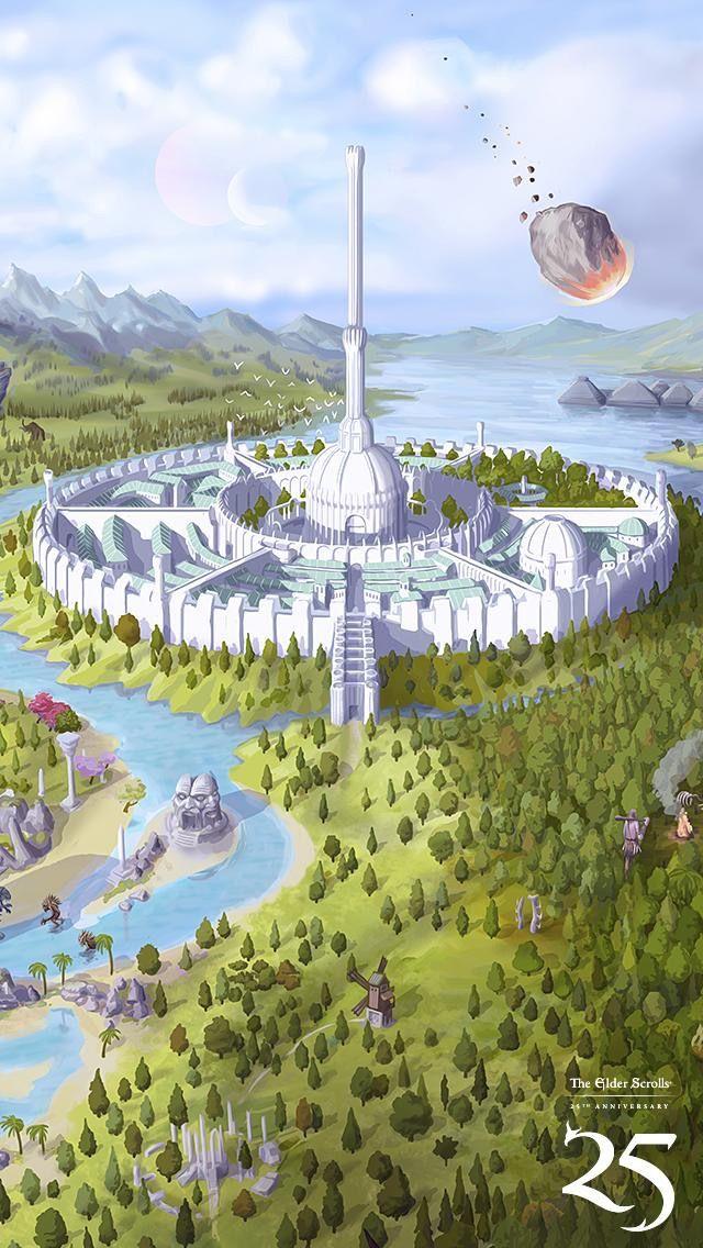 Elder Scrolls Oblivion Phonewallpaper Elder Scrolls Oblivion Elder Scrolls Art Fantasy Landscape