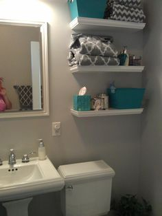 bathroom shelves over toilet - Google Search