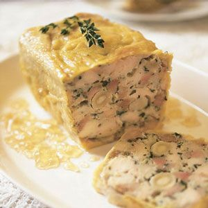 Chicken Terrine with Macadamia Nuts_      This recipe is based on a terrine created by Brisbane chef Philip Johnson.