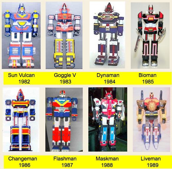 Sentai Chogokin 1982 - 1989