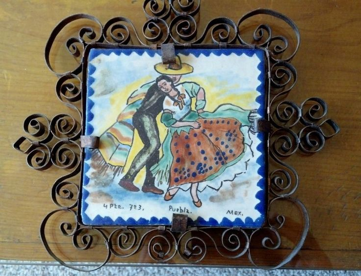 59 best Vintage Mexican Pictorial Tiles images on Pinterest ...