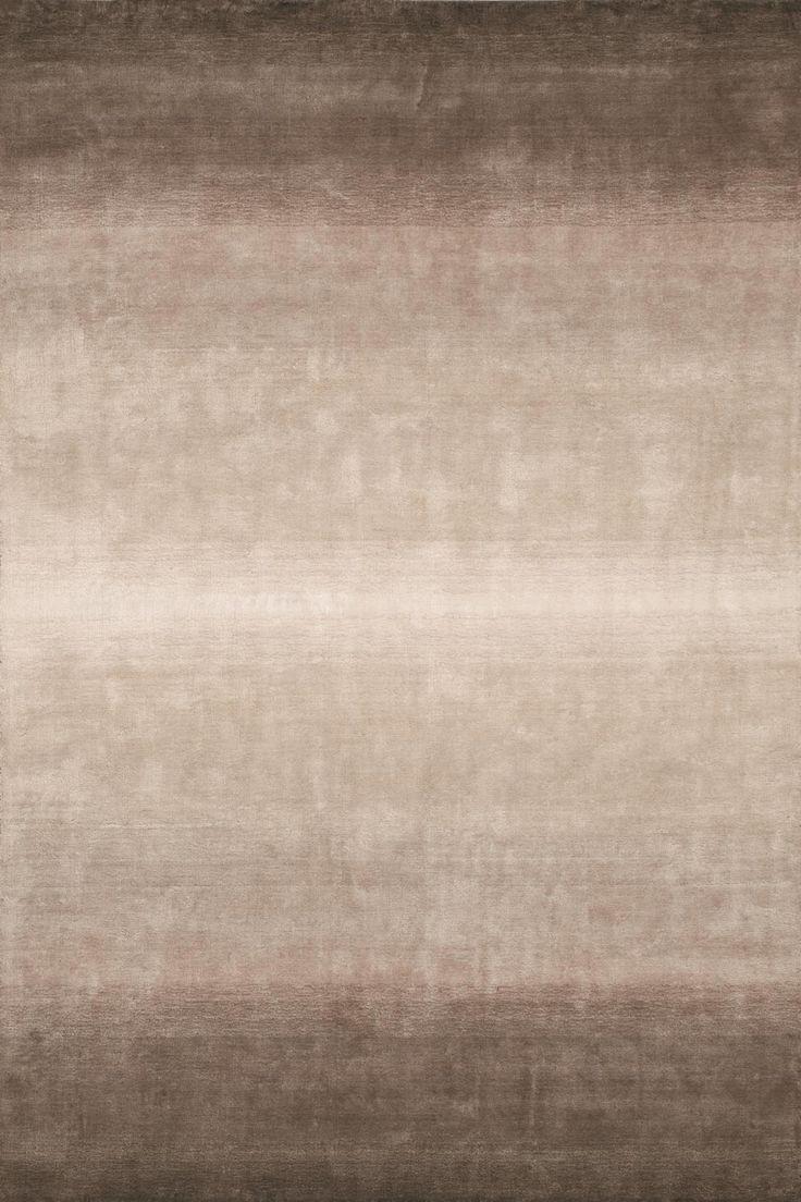 Blur design - A carpet in 100% linen color coffee-coloured