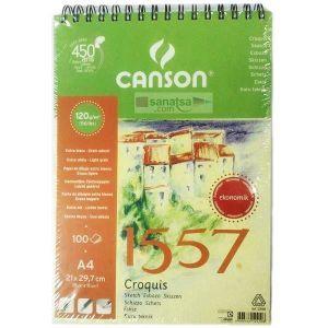 Canson 1557 Çizim Blok 120Gr A4 100Yp Eko 124100