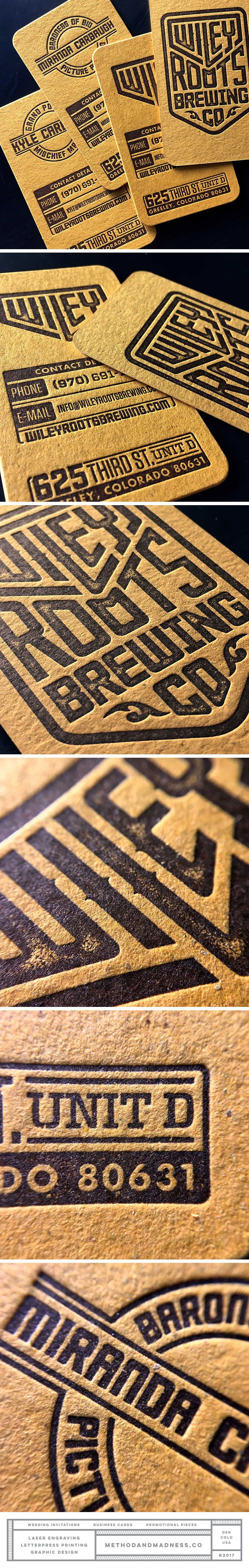 54 best business cards images on pinterest business cards carte diecut letterpress brewery business cards paper contains used hops and malt design by evan colourmoves